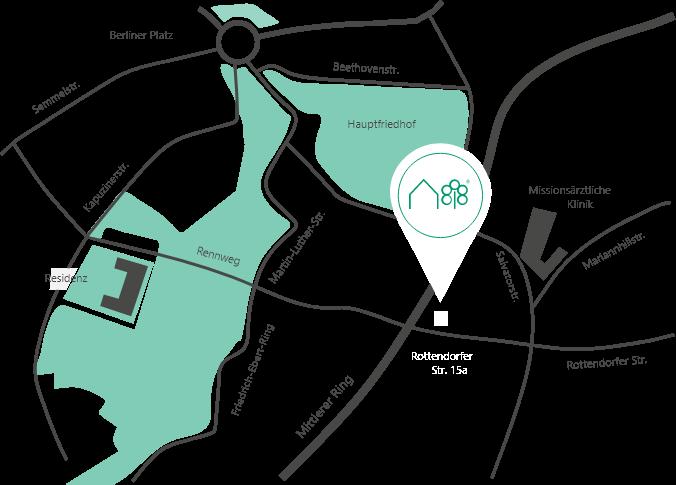 Karte-Footer-Reinhart-Immobilienmakler-Wuerzburg